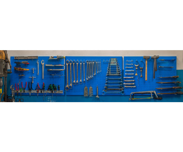 Panel perforado 900x400 azul - Panel perforado blanco ...